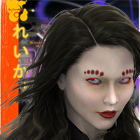 Reiko Yakuza Angel (with real Irezumi) 3D Figure Assets circleman