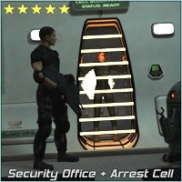 SciFi Security Office and Arrest Cell 3D Models 3-d-c
