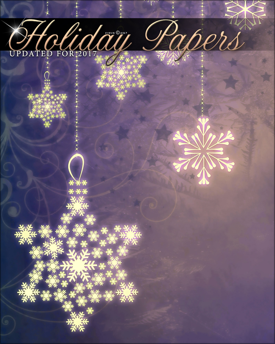 Holiday Papers Background Mini Pack by Sveva