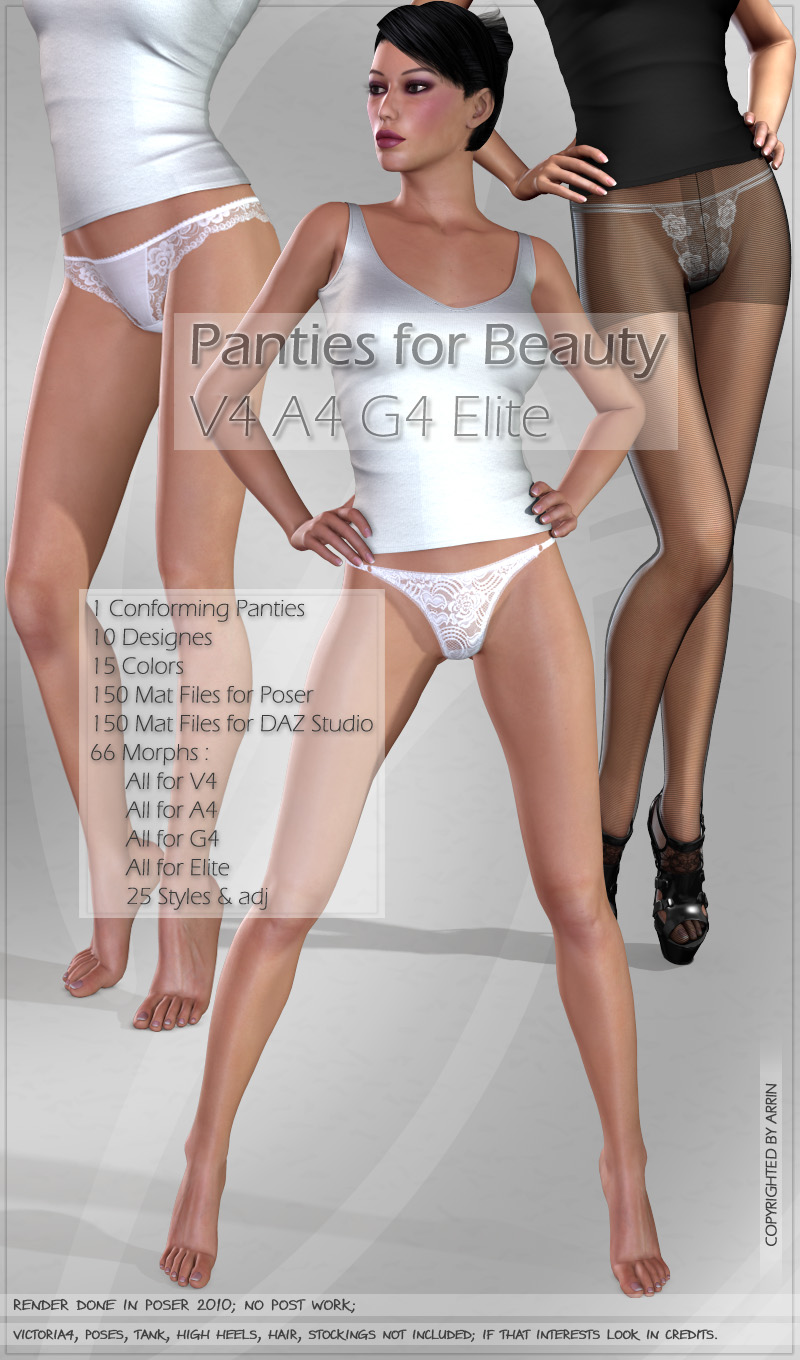 Panties for Beauty V4 A4 G4 Elite