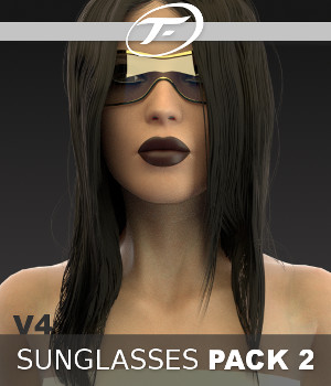 V4 Sunglasses Pack 2 3D Figure Assets 3D Models TruForm