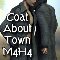 Coat About Town M4H4 3D Figure Assets SickleYield