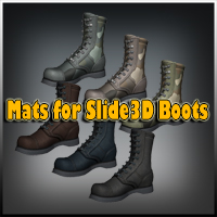 Mats for Slide3D Boots 3D Figure Assets Slide3D