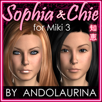 AA Sophia and Chie for Miki 3 3D Figure Assets andolaurina