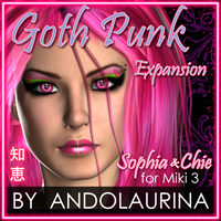 GothPunk Expansion: Sophia & Chie for Miki 3 3D Figure Assets andolaurina