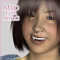 Mio for Miki3 3D Figure Assets kobamax
