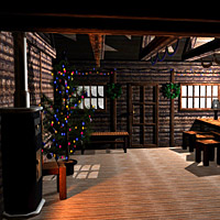WWL1 - Winter Cabin 3D Models mapps