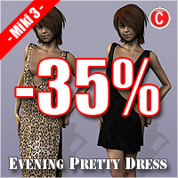 Dynamic Evening Dress for Miki3 by ile-avalon