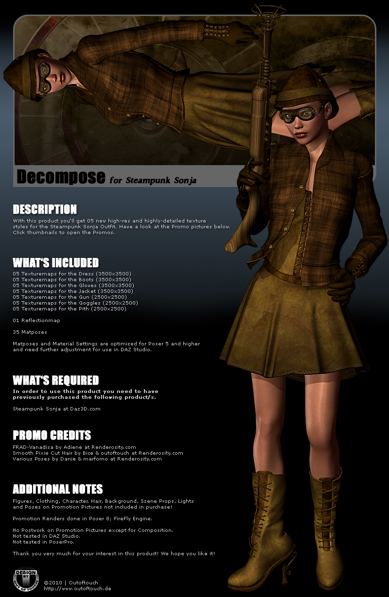 DECOMPOSE for Steampunk Sonja