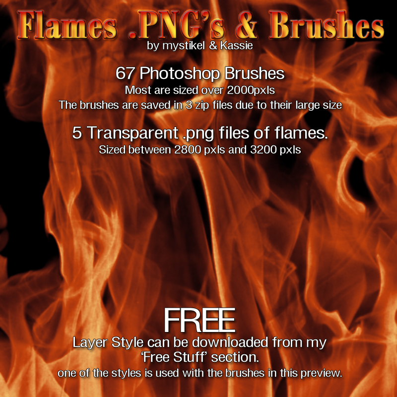 m&K Flames PNGs & Brushes