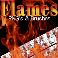 m&K Flames PNGs & Brushes by mystikel
