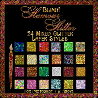 Bling - GLAMOUR GLITTER (Mixed) Styles by fractalartist01 2D 3D Models fractalartist01