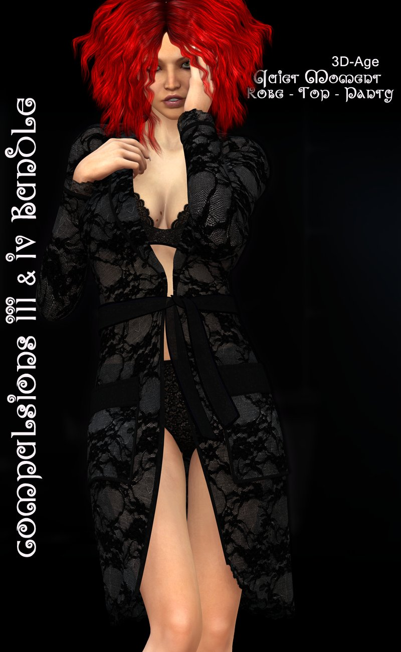 CompulsionsIII & IV Bundle - Quiet Moment:Robe+Top+Panty