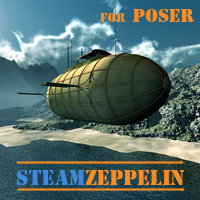 Steam Zeppelin for Poser 3D Models 1971s