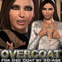Overcoat for Dec Coat by 3D-Age 3D Figure Assets 3D Models fratast