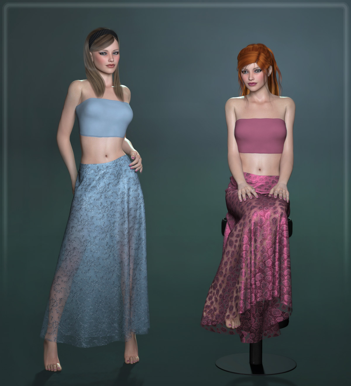 Dynamic Long Skirt 2.0 - Multicharacter