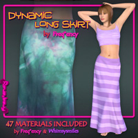 Dynamic Long Skirt Clothing Frequency