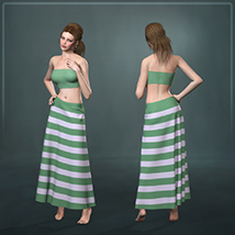 Dynamic Long Skirt 2.0 - Multicharacter image 1