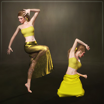 Dynamic Long Skirt 2.0 - Multicharacter image 7