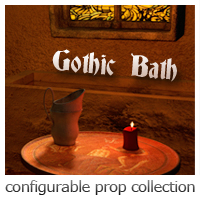 Gothic Bath Themed Props/Scenes/Architecture ironman13
