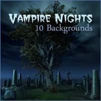 Vampire Nights Backgrounds 2D And/Or Merchant Resources Themed -Melkor-