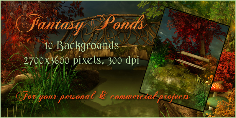 Fantasy Ponds Backgrounds