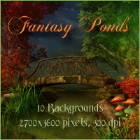 Fantasy Ponds Backgrounds Themed 2D And/Or Merchant Resources -Melkor-