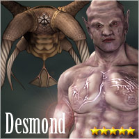 Desmond for M4 Themed Poses/Expressions Characters Stand Alone Figures Software Accessories ile-avalon