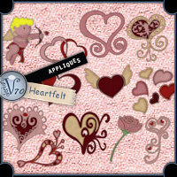 Appliques - Heartfelt Themed 2D And/Or Merchant Resources Valerian70
