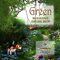 """Green""Backgrounds 2D assnezana"