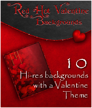 Red Hot Valentine 2D Graphics 3D Models Bez