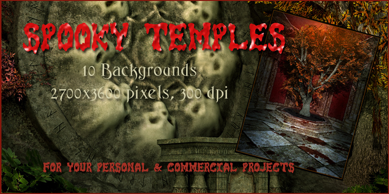 Spooky Temples Backgrounds