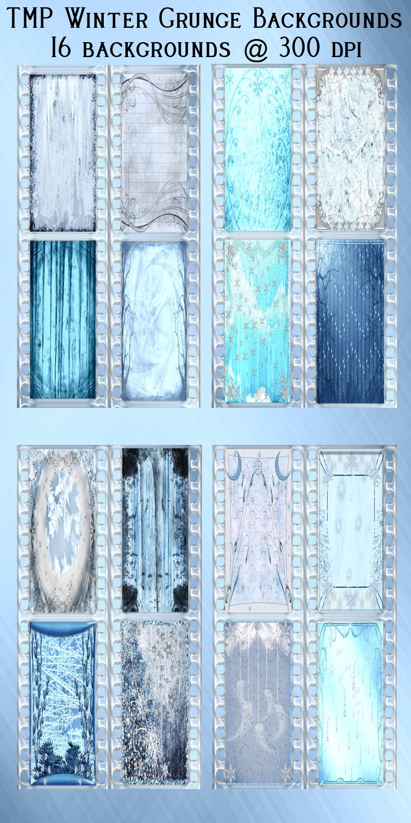 TMP Winter Grunge Backgrounds
