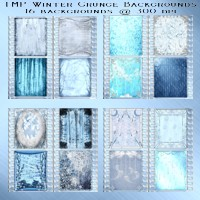 TMP Winter Grunge Backgrounds 2D 3D Models TheMadPainter