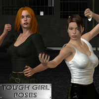 Tough Girl Poses 3D Figure Assets 3D Models apcgraficos