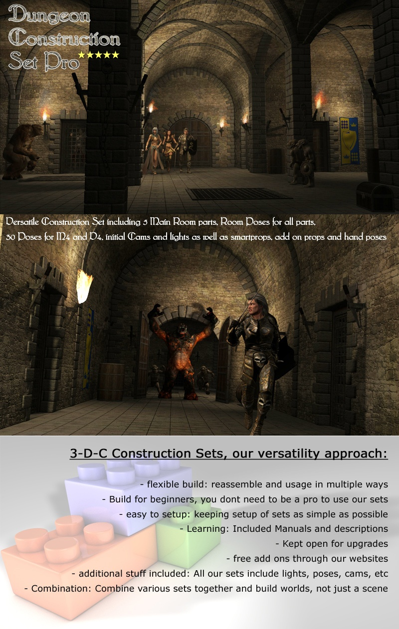 Dungeon Construction Set Pro by 3-D-C by 3-d-c