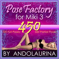 AA Miki 3 Pose Factory 3D Figure Essentials 3D Models andolaurina