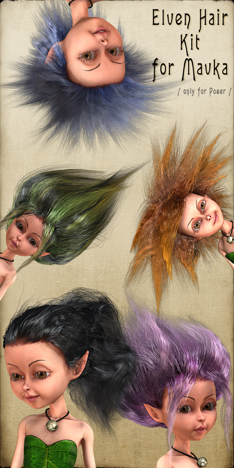 Elven Hair Kit for Mavka