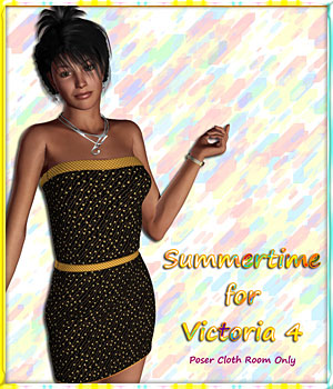 V4 Summertime - Dress and 10 Styles 3D Figure Assets karanta