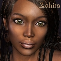Zahira for Vicky 4 3D Figure Essentials HandspanStudios