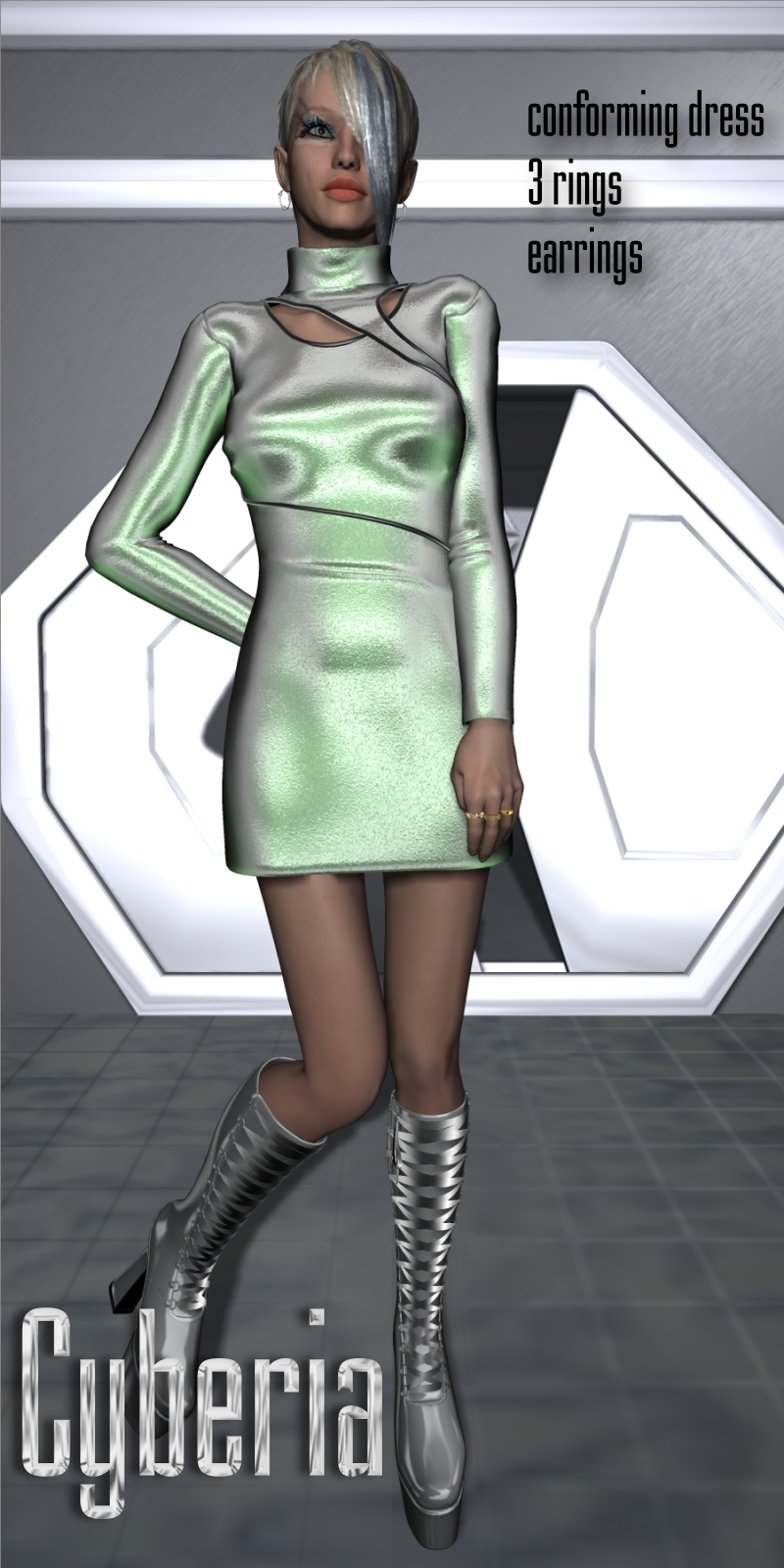 Cyberia Dress for V4-S4-Elite-A4-G4-Alice