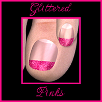 Glittered Pinks  SpookieLilOne