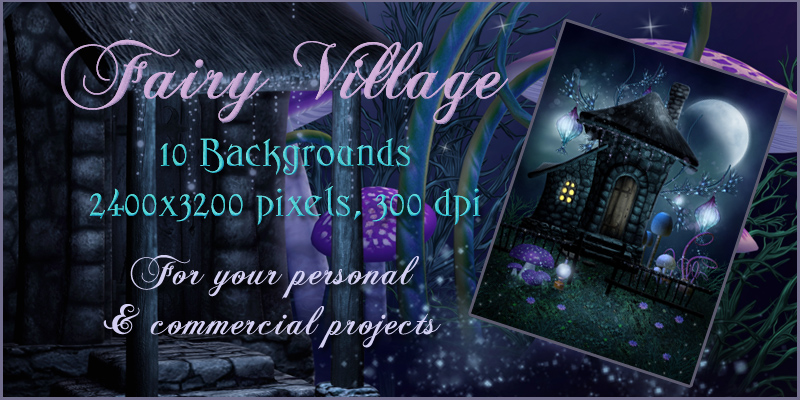 Fairy Village Backgrounds