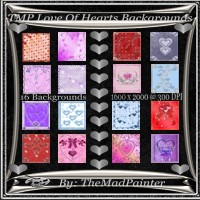 TMP Love Of Hearts Backgrounds 2D 3D Models TheMadPainter