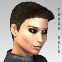 Tough Hair by adamthwaites 3D Figure Essentials adamthwaites