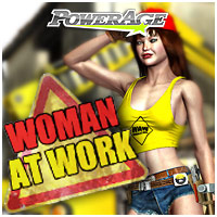 Woman At Work 3D Figure Assets powerage