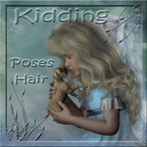 Kidding - Poses and Hair for K4 3D Figure Assets 2D Graphics ilona