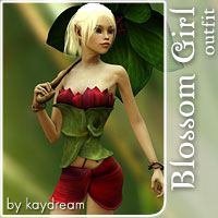 Blossom Girl 3D Models 3D Figure Essentials kaydream