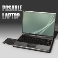 Acrionx Posable Laptop 3D Models acrionx