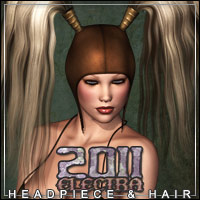 ELECTRA2011 Headpiece & Hair 3D Models 3D Figure Essentials outoftouch